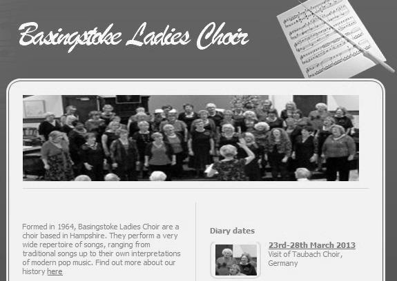 Basingstoke Ladies choir website